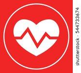 heart medical icon   Shutterstock .eps vector #544733674