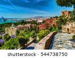 aerial view of malaga taken... | Shutterstock . vector #544738750