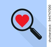 find heart and love icon with... | Shutterstock .eps vector #544747000