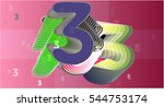 number  3 with three and...   Shutterstock .eps vector #544753174