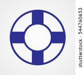 lifebuoy  icon  vector... | Shutterstock .eps vector #544760653