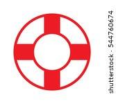 lifebuoy  icon  vector...   Shutterstock .eps vector #544760674