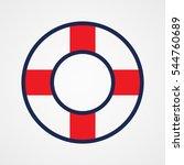 lifebuoy  icon  vector... | Shutterstock .eps vector #544760689