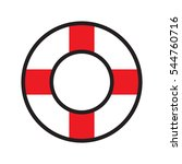 lifebuoy  icon  vector... | Shutterstock .eps vector #544760716