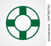 lifebuoy  icon  vector... | Shutterstock .eps vector #544760743