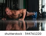 healthy athlete doing push ups... | Shutterstock . vector #544761220