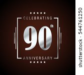 90th silver anniversary logo ... | Shutterstock .eps vector #544761250