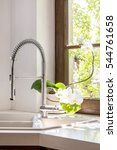 close up on the sink and tap | Shutterstock . vector #544761658