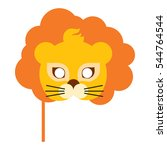 lion animal carnival mask... | Shutterstock .eps vector #544764544