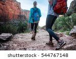 two lady hiker on the walkway... | Shutterstock . vector #544767148