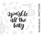 christmas greeting card ... | Shutterstock .eps vector #544771543