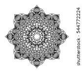 mandala. ethnic decorative...   Shutterstock . vector #544772224