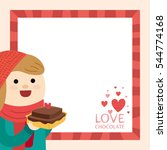 little girl and valentine's day | Shutterstock .eps vector #544774168