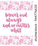 valentine's day quote. romantic ... | Shutterstock .eps vector #544776610