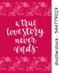 handwritten vintage lettering... | Shutterstock .eps vector #544779019