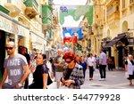 valletta  malta.  may 15  2013. ... | Shutterstock . vector #544779928