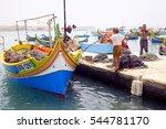 marsaxlokk  malta  may 18  2013.... | Shutterstock . vector #544781170