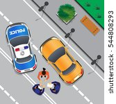 police stopped the offender.... | Shutterstock .eps vector #544808293