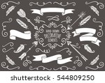 collection of hand drawn... | Shutterstock .eps vector #544809250