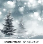 winter landscape with fir trees.... | Shutterstock . vector #544810519