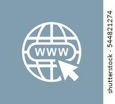 website icon vector flat design ... | Shutterstock .eps vector #544821274