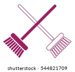 broom icon | Shutterstock .eps vector #544821709