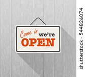 simple white sign with text ... | Shutterstock .eps vector #544826074