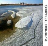 spring snow sketches siberia.... | Shutterstock . vector #544828858