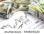 concept of currency trading. ... | Shutterstock . vector #544835620