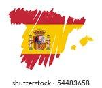 map flag spain   Shutterstock .eps vector #54483658