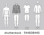 paper doll of the man with... | Shutterstock .eps vector #544838440
