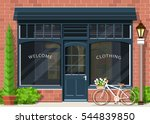 graphic fashion shop facade.... | Shutterstock .eps vector #544839850