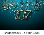 2017 happy new year background... | Shutterstock . vector #544842238