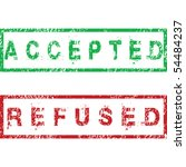 accepted and refused stamps | Shutterstock .eps vector #54484237