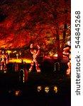 the blaze pumpkin light...   Shutterstock . vector #544845268