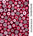 seamless pattern with flower... | Shutterstock .eps vector #544849648