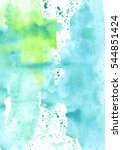 watercolor  green and blue... | Shutterstock . vector #544851424