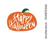 inscription. happy halloween.... | Shutterstock . vector #544855360