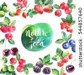eco food organic cafe menu... | Shutterstock . vector #544857640