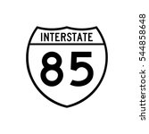 interstate highway 85 road sign.... | Shutterstock .eps vector #544858648