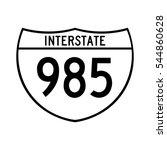 interstate highway 985 road... | Shutterstock .eps vector #544860628