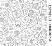 seamless pattern for a holiday. ... | Shutterstock .eps vector #544861078