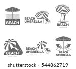 logo templates with beach... | Shutterstock .eps vector #544862719
