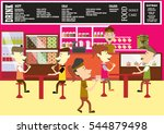 donut shop  coffee and cake in... | Shutterstock .eps vector #544879498