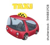 cartoon taxi. | Shutterstock . vector #544881928
