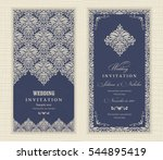 wedding invitation cards in an... | Shutterstock .eps vector #544895419