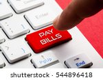 Small photo of PAY BILLS word concept button on keyboard
