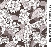 pattern created from hand drawn ... | Shutterstock .eps vector #544896718