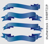 blue ribbons vector | Shutterstock .eps vector #544897219