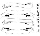 ribbons black and white vector | Shutterstock .eps vector #544898350